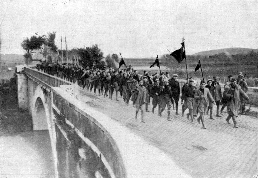 Mussolinis Marsch auf Rom (public domain)